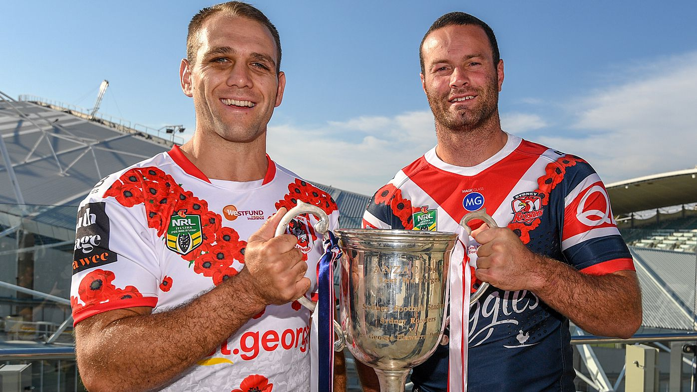 NRL Preview: Andrew Johns backs Sydney Roosters to pip St George Illawarra Dragons on ANZAC Day