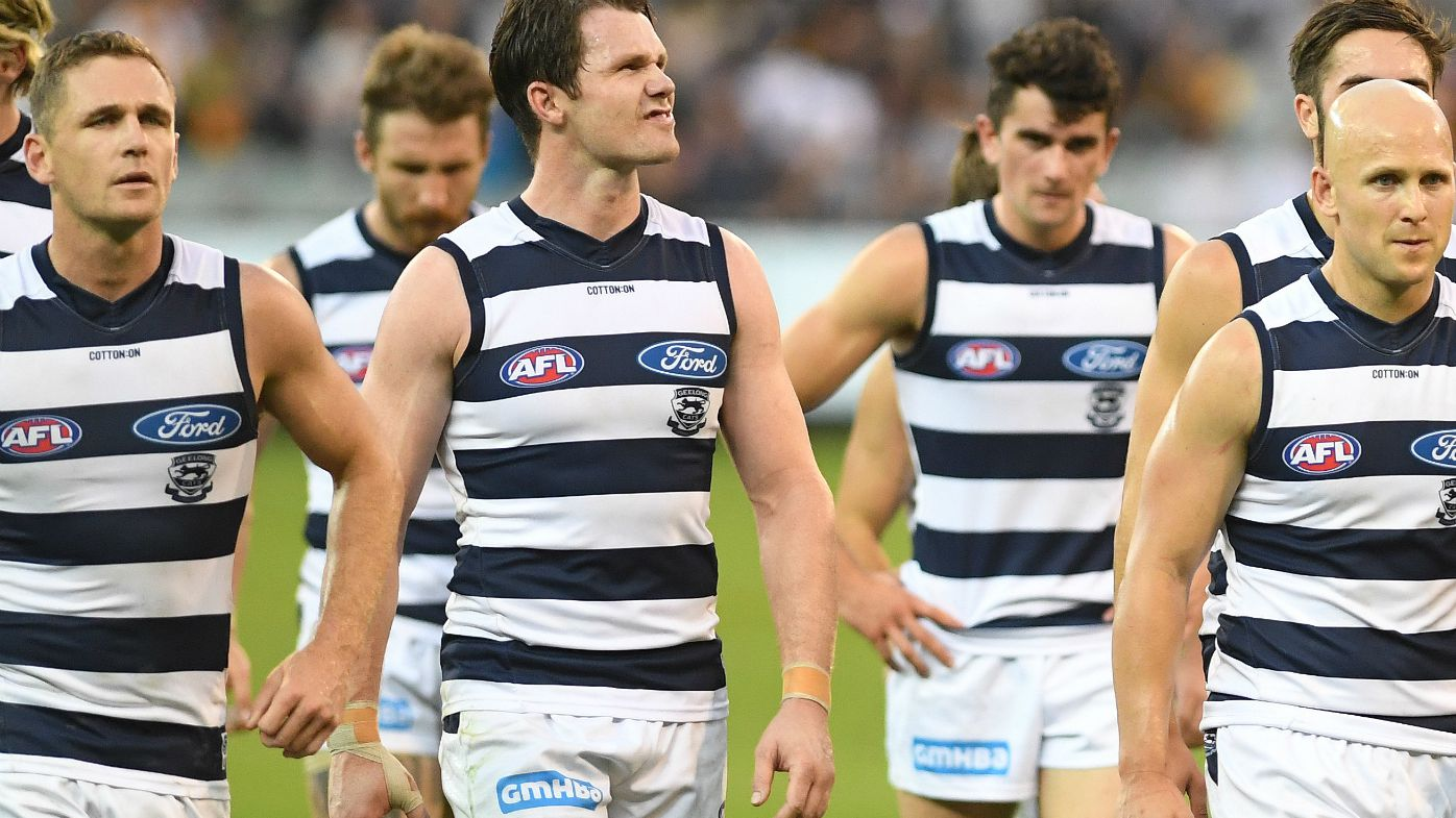 Garry Lyon questions practicality of Geelong star midfield trio