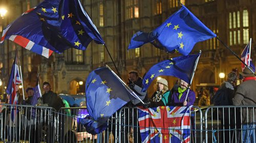 Brexit protesters in London.