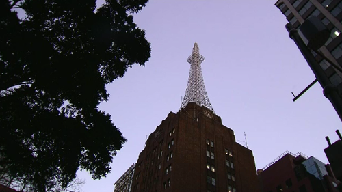 The AWA Tower is 111 metres tall and located in York Street, Sydney.