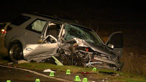 The driver of the Ford Territory suffered non-life threatening injuries. Picture: 9NEWS