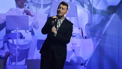 Sam Smith performs. (Getty)