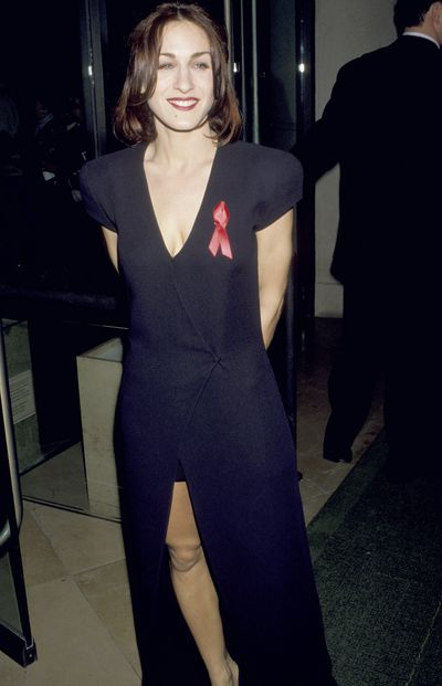 Sarah Jessica Parker at the 50th Annual Golden Globe Awards in Beverly Hills, 1993<br>
