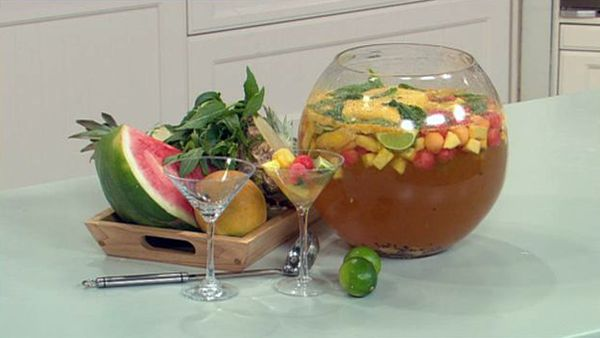 Tropical fruit sangria
