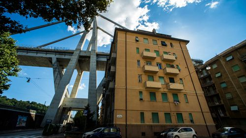 Apartment blocks beneath the bridge are now at risk and residents face evacuation.