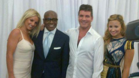 Britney Spears Demi Lovato Simon Cowell LA Reid