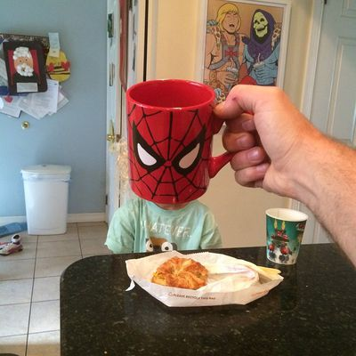 Spiderman doesn't appear to like pastry so much. (Instagram)
