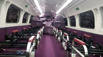 Vandals tear out every seat in Sydney train carriage