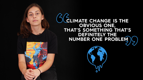 Ruby, 20, is concerned about climate change and affordable housing.