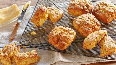 "Recipe: <a href=""https://kitchen.nine.com.au/2017/08/04/15/25/curtis-stones-kabocha-pumpkin-scones"" target=""_top"">Curtis Stone's kabocha pumpkin scones recipe</a>"