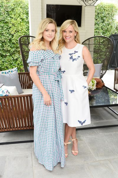 Ava  Phillippe and Reese Witherspoon at NET-A-PORTER x Draper James Event in Beverly Hills, June, 2017