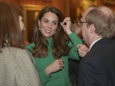 Duchess of Cambridge at Buckingham Palace reception for NATO leaders.