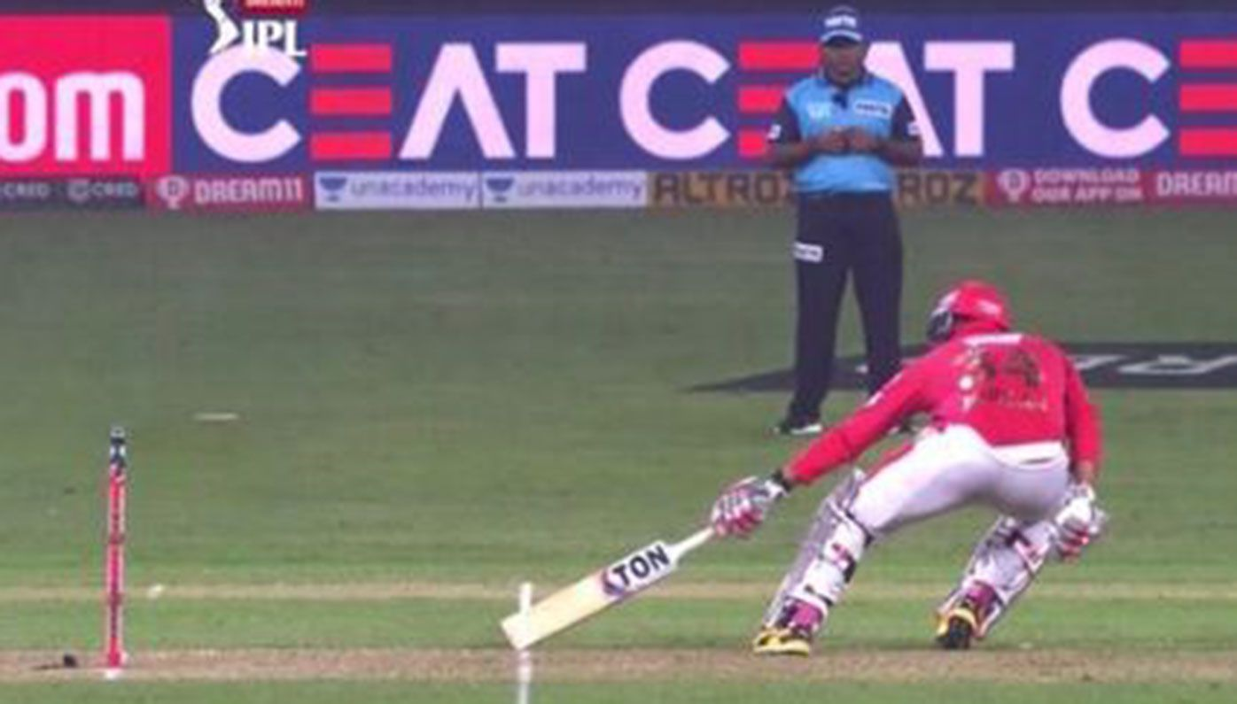 Chris Jordan was ruled to have not made his ground, despite replays proving otherwise.