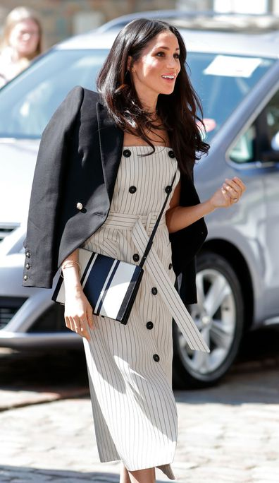 Meghan wearing Oroton bag