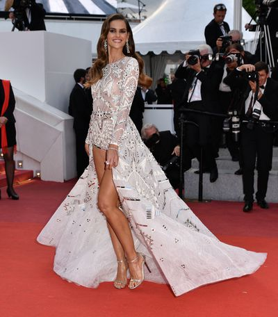 Brazilian model Izabel Goulart at the screening of the film 'Sink Or Swim' at the 71st Cannes Film Festival, May, 2018.