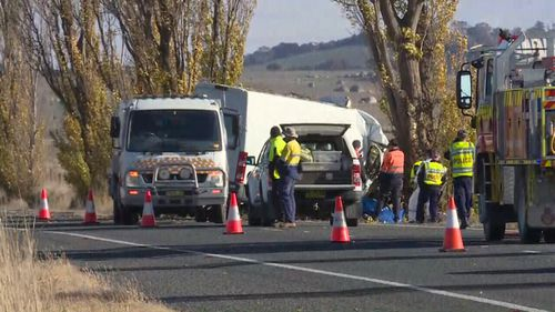 Police are investigating the cause of the crash. (9NEWS)