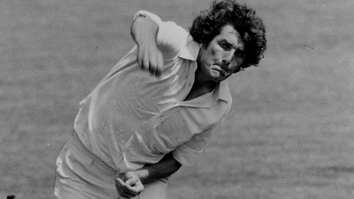 Bob Willis hurling one down in 1978