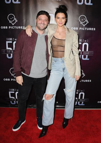 Kendall Jenner (with President and CEO of OBB Pictures. Michael D. Ratner) in Beverly Hills, November, 2017