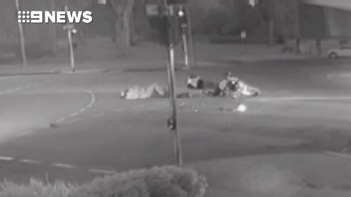 CCTV footage of the incident then showed him driving away from the scene.