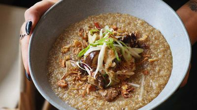 "Recipe:<a href=""http://kitchen.nine.com.au/2018/03/02/12/51/organic-quinoa-congee-recipe"" target=""_top""> Kindred Farm organic quinoa 'congee'</a>"