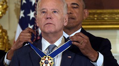 Biden receives the Presidential Medal of Freedom