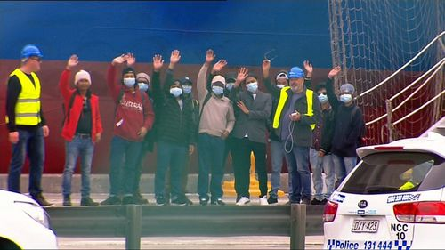 Seafarers walked off the Hong Kong-owned Unison Jasper about 7am.