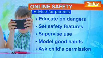 Parents are advised to take an active role in monitoring their kids' online usage.