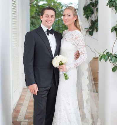 Whitney Wolfe Herd and husband wedding