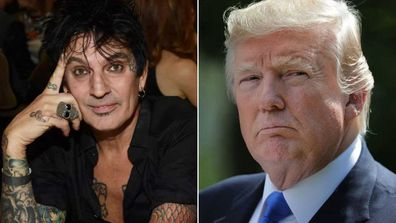 Tommy Lee slams Donald Trump in scathing post.