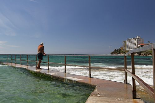 Temperatures were blazing by mid-morning across NSW. (AAP)