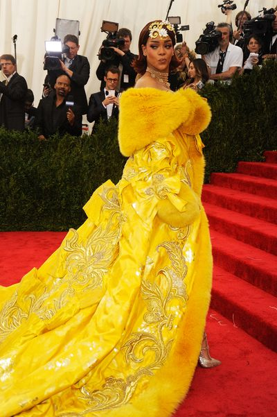 1. The undisputed queen of the Met Gala is Rihanna, having snatched the crown from contenders at the 2015 exhibition China: Through The Looking Glass in a yellow Guo Pei gown that launched a million memes.