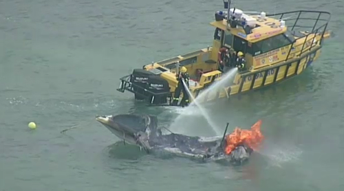 The boat owner is now being asked to contact police. (9NEWS)