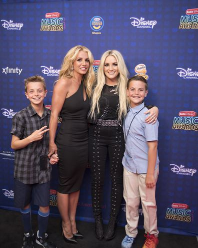 Britney Spears, transformation, photos, sister Jamie Lynn Spears and sons Jayden and Preston at the 2017 Radio Disney Music Awards.