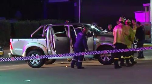 A gunman remains on the run in Sydney's west after shooting two people who were sitting in a car at a McDonald's. Picture: 9NEWS.