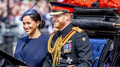 Harry and Meghan attend Trooping the Colour