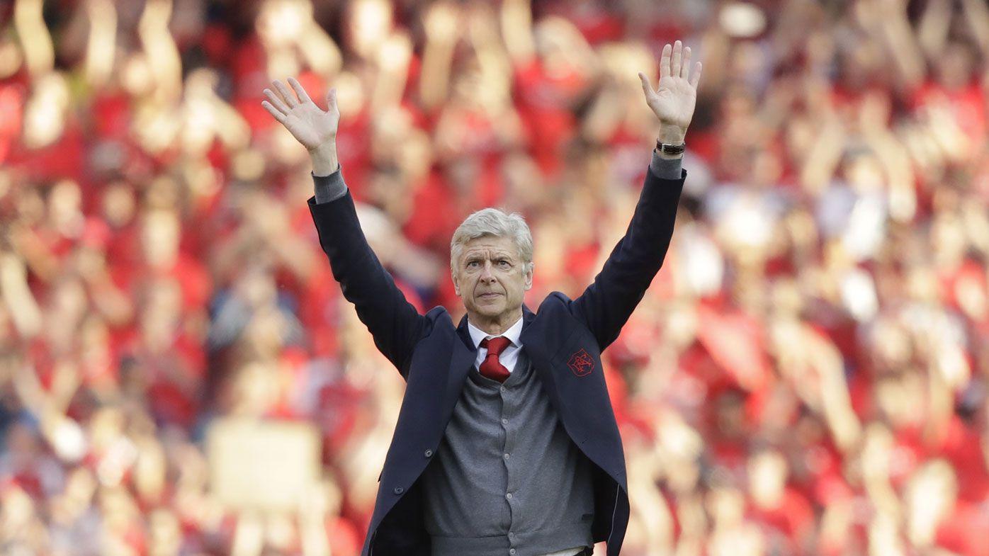 Departing Arsenal manager Arsene Wenger given 'Invincibles' trophy