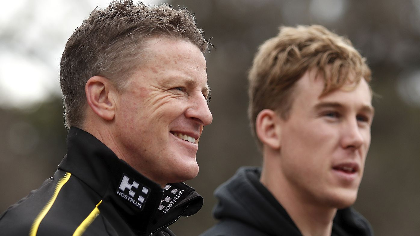 Tigers coach Damien Hardwick won't back down after backlash to fiery shot at Jonathan Brown