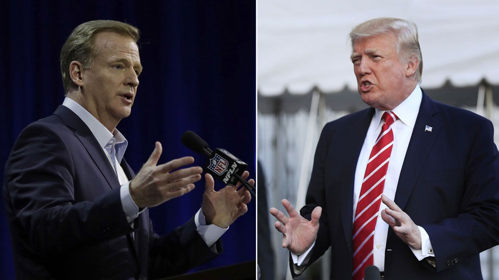 Trump and NFL at odds over anthem debate