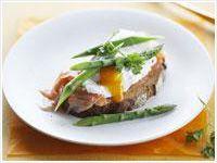 Smoked salmon and poached egg on rye