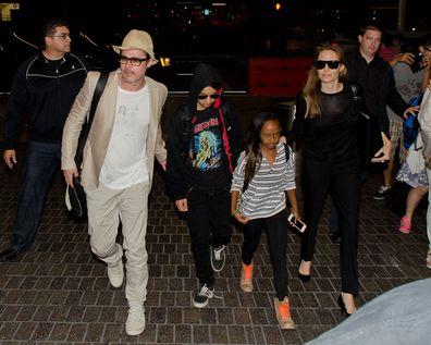 Brad Pitt, Maddox Jolie-Pitt, Zahara Jolie-Pitt, Angelina Jolie
