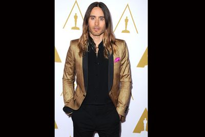The ever-stylish and androgynous Jared Leto.