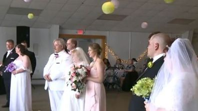 Three brothers marry in triple wedding