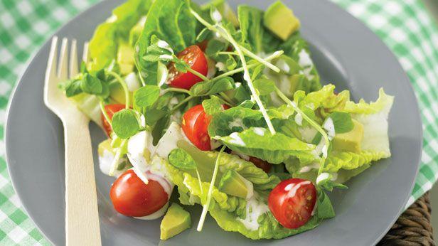 Cos and avocado salad