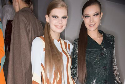 <p>The side pony at Christian Dior's Fall 2015 show will stay smooth all day.</p>