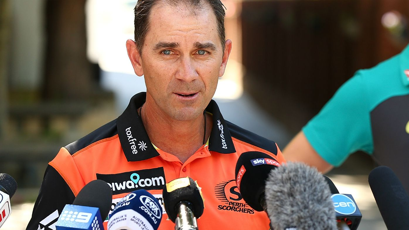 Justin Langer speaks to media