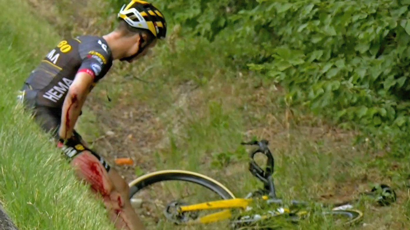 Tour de France 2021: Bloodied Tony Martin stretchered off after crash