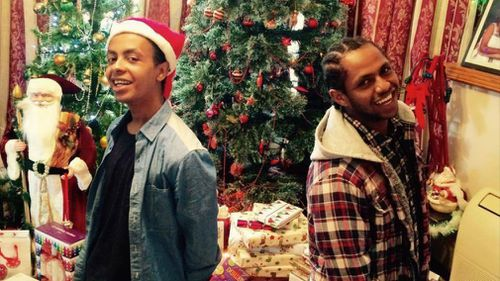 It's been hard for the family to celebrate Christmas since Naz (left) disappeared.