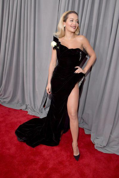 Singer Rita Ora wearingRalph & Russo Spring 2018 Couture