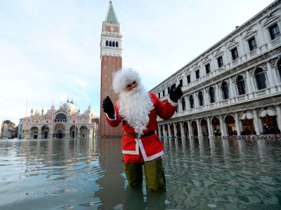 A wet Christmas in Venice