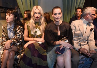 Front row at Burberry with Amber Anderson, London Fashion Week